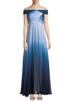 Shoshanna Arizona Tie-Dye Off-the-Shoulder Gown