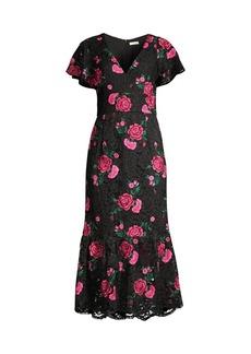 Shoshanna Audette Floral Lace Dress