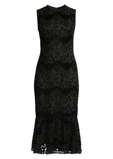 Shoshanna Bolton Lace Midi Dress