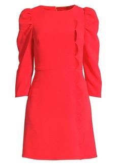 Shoshanna Brielle Puff-Sleeve Mini Sheath Dress