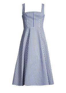 Shoshanna Byancca Sleeveless Gingham Dress