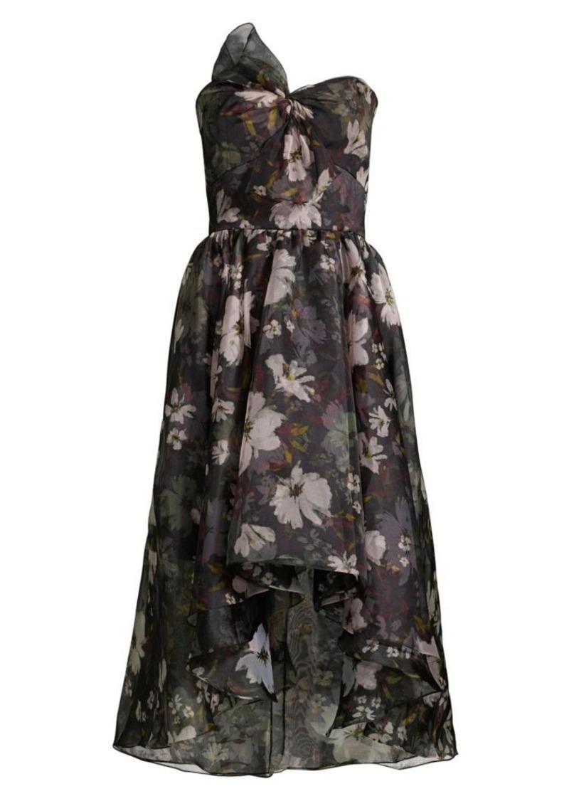 Shoshanna Calistoga Thea Floral Tiered Ruffle Dress