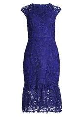 Shoshanna Cally Cap-Sleeve Lace Dress