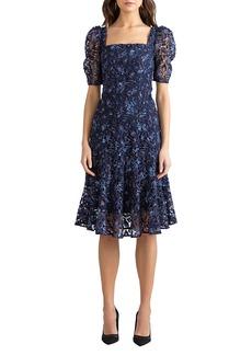 Shoshanna Camden Autumn Leaf Printed Dress