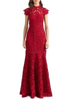 Shoshanna Carlotta Lace Trumpet Dress