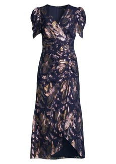 Shoshanna Chloe Metallic Floral Dress