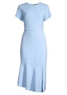Shoshanna Cipriana Flounce Midi Dress