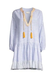 Shoshanna Classic Umbrella Stripe Tunic Mini Dress