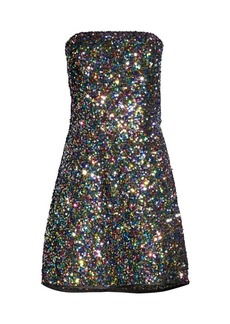 Shoshanna Coralie Sequin Rainbow Dress