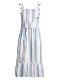 Shoshanna Demeri Striped Eyelet Dress