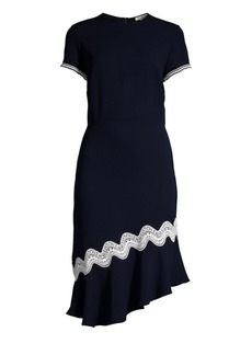 Shoshanna Dinan Crochet-Trim Dress