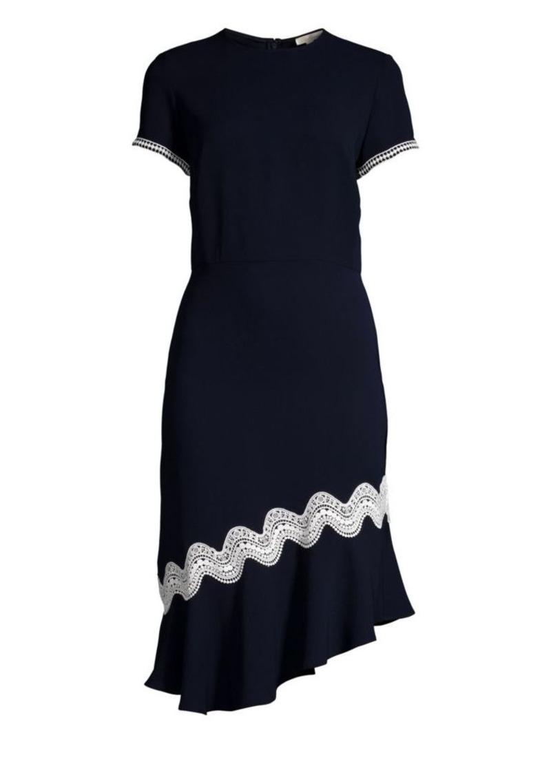 Shoshanna Dinan Crochet-Trim Dress