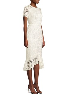 Shoshanna Edgecombe Crocheted Lace Midi Dress