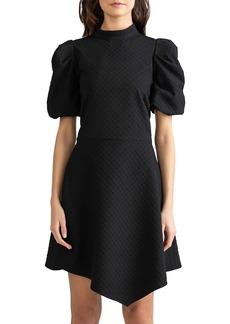 Shoshanna Elizabeth Ruched-Sleeve Dress