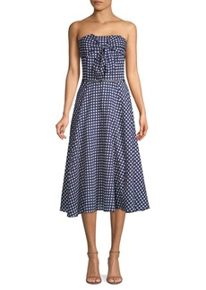 Shoshanna Ellen Gingham Cotton Dress