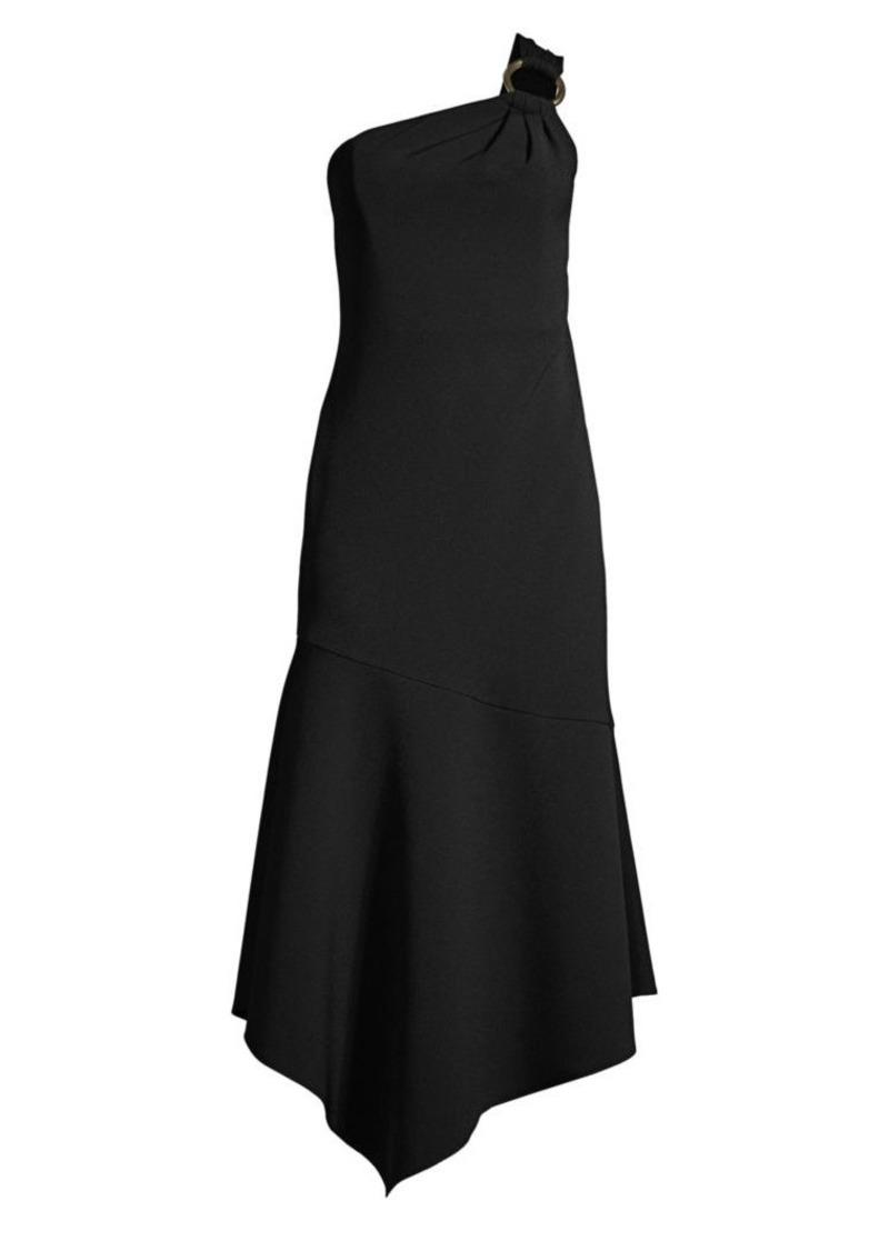 Shoshanna Eonia Asymmetric Ruffle Dress