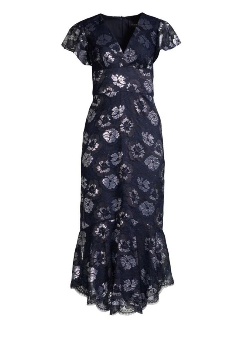 Shoshanna Esmira Floral Lace Midi Dress