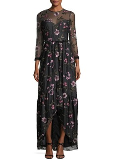 Shoshanna Essich High-Low Floral Evening Gown