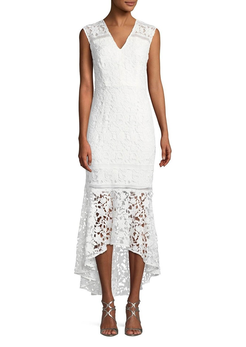 Evangelina Cap Sleeve Floral Lace Gown