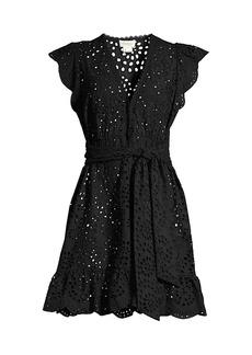 Shoshanna Eyelet Flare Cover-Up Dress