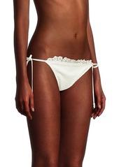 Shoshanna Eyelet Tie Bikini Bottoms