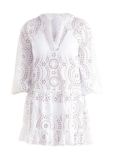 Shoshanna Eyelet Umbrella Mini Dress