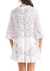 Shoshanna Eyelet Umbrella Mini Dress