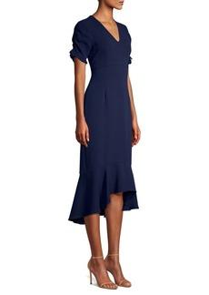 Shoshanna Firenze Flounce Hem Dress