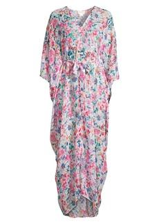 Shoshanna Floral Long Caftan Cover-Up