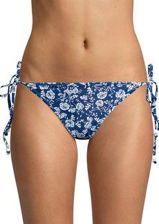 Shoshanna Floral Triangle Bikini Bottom
