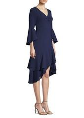 Shoshanna Florette Ruffle-Trim Sheath Dress
