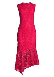 Shoshanna Gabriola Lace Midi Dress