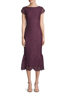 Shoshanna Gwen Lace Fit-&-Flare Dress