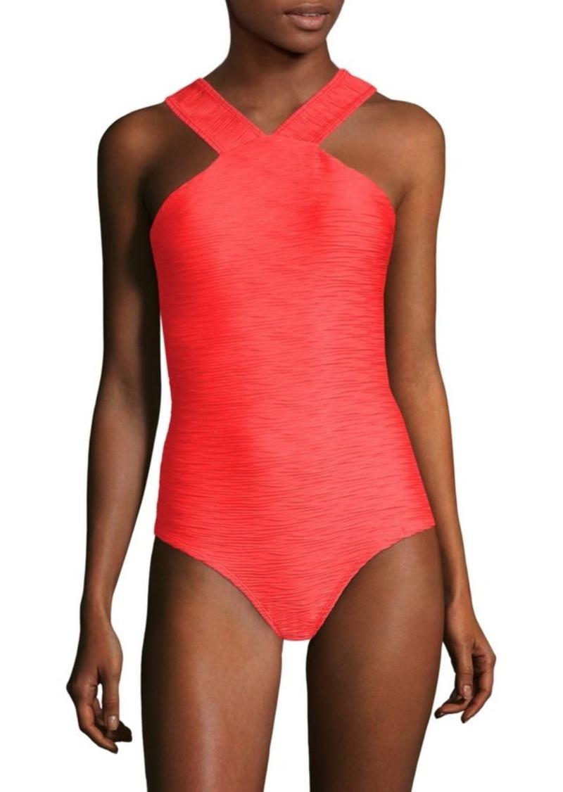 Shoshanna Halterneck One-Piece Swimsuit