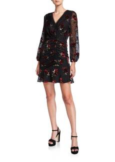 Shoshanna Julietta Clip Dot Tossed Bouquet Burnout Dress