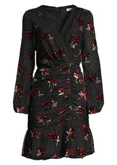 Shoshanna Julietta Floral Polka Dot A-Line Dress