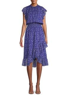 Shoshanna Kinne Silk Blouson Dress