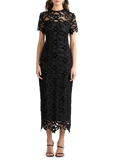 Shoshanna Kira Lace Midi Dress