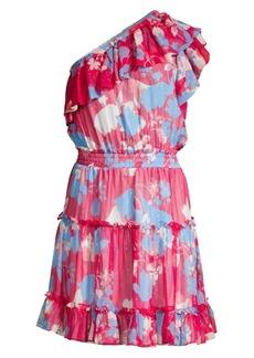 Shoshanna Kiya One-Shoulder Floral Dress