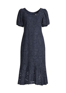 Shoshanna Kosma Dot Lace Dress