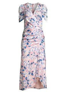 Shoshanna Lorenza Floral Ruched Dress