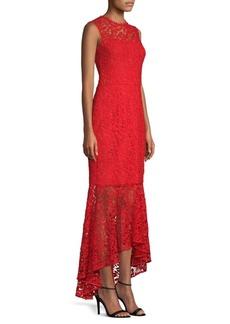 Lydia Lace Flounce Maxi Dress