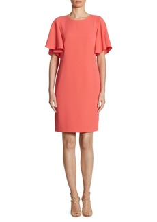 Shoshanna Mayberry Ruffle-Sleeve Dress