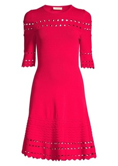 Shoshanna Menena Knit Fit-&-Flare Dress