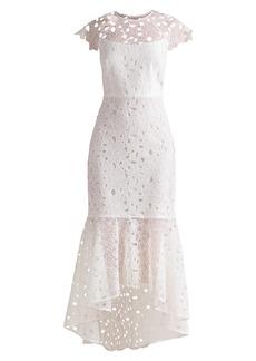 Shoshanna Mina Lace Flounce Dress