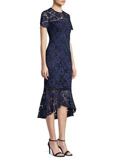 Shoshanna Mulholland Lace Midi Dress