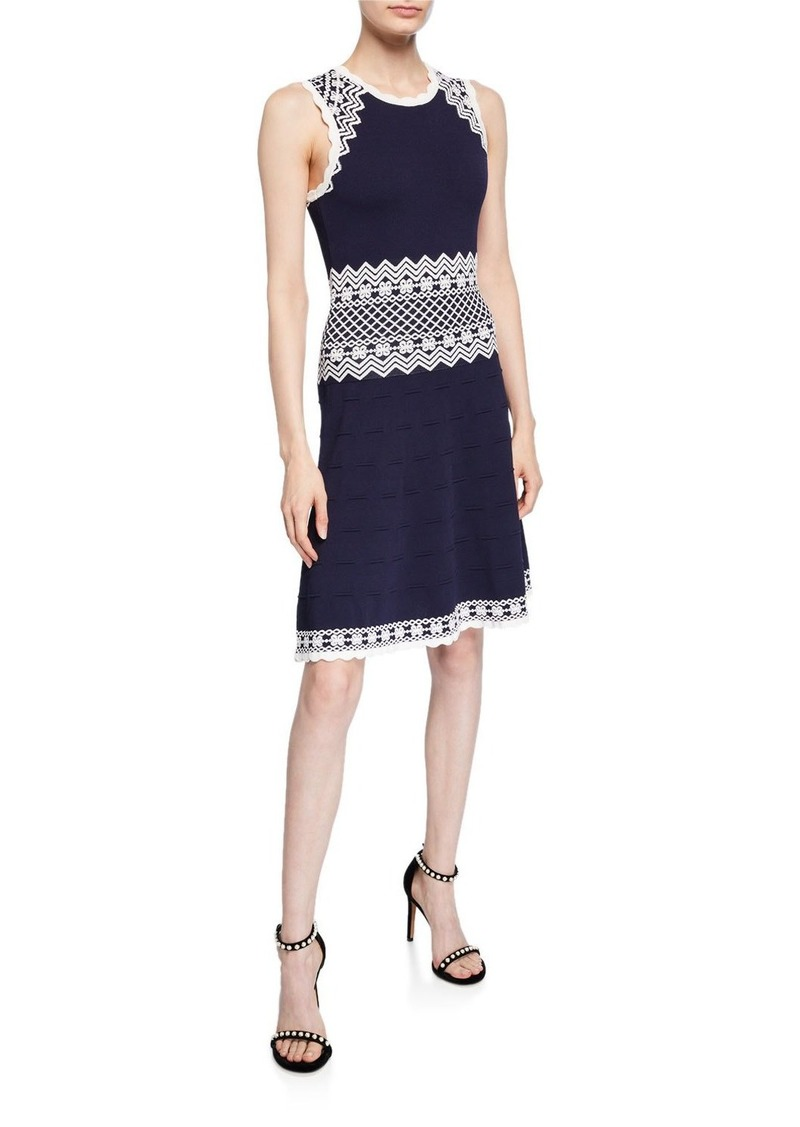 Shoshanna Olina Sleeveless A-Line Dress