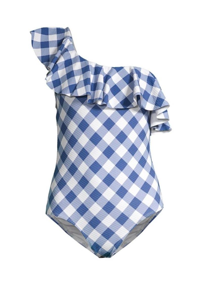Shoshanna One-Shoulder 1-Piece Swimsuit