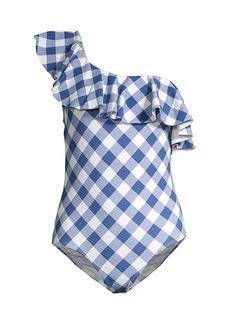 Shoshanna One-Shoulder One-Piece Swimsuit