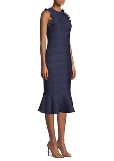 Shoshanna Ottoman Jacquard Knit Sheath Dress